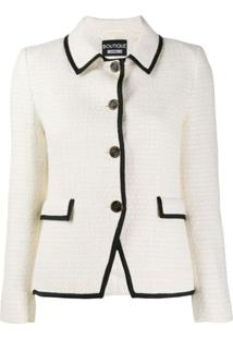Boutique Moschino Jaqueta De Tweed Com Textura - Branco