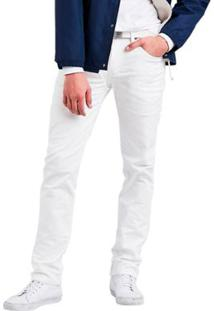 Calça Jeans Levis 511 Slim Masculina - Masculino-Branco