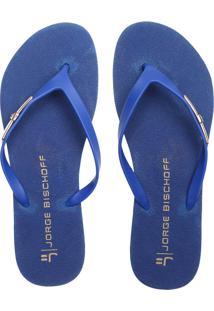 Chinelo Jorge Bischoff Metal Azul