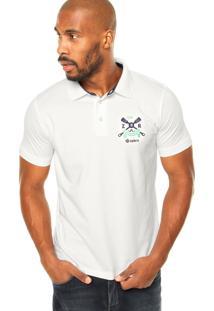 Camisa Polo Zebra Rafting Branca