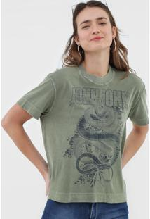 Camiseta John John Snake Flowers Verde - Kanui