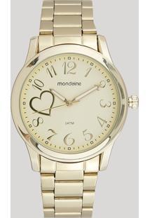 Relógio Analógico Mondaine Feminino - 99127Lpmvde1 Dourado - Único