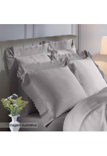 Fronha Cristal Jonelle- Bege- 90X50Cm- 300 Fiosbuettner