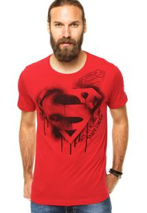 Camiseta Fashion Comics Estampada Vermelha