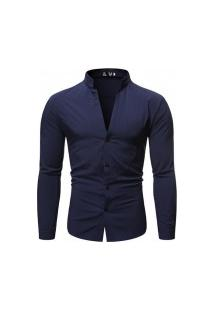 Camisa Masculina Slim Fit - Navy