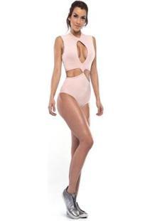 Body Com Bojo Vestem Feminino - Feminino-Nude+Bege