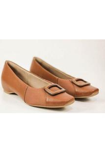 Sapato Usaflex Feminino - Feminino-Marrom
