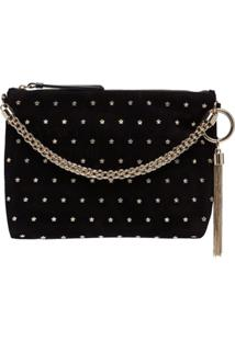 Jimmy Choo Callie Star-Embellished Shoulder Bag - Preto