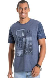 Camiseta Los Angeles Azul Bgo