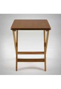 Mesa Dobrável Quadrada Estrutura Madeira Maciça Linha Carpenter Design By Studio Artesian