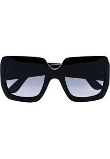 Gucci Eyewear Óculos De Sol Quadrado Gg De Acetato - Preto