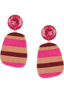 Maryjane Claverol Constanza Clip-On Earrings - Rosa
