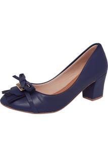 Scarpin Dafiti Shoes Laço Franjas Vinho