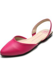 Sapatilha Moleca Bico Fino Pink
