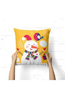 Capa De Almofada Love Decor Avulsa Decorativa Boneco De Neve Hi