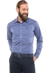 Camisa Iódice Reta Logo Azul