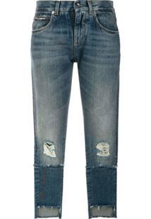 Dolce & Gabbana Calça Jeans Cropped - Azul