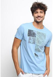 Camiseta Acostamento Aleric Islands Resort Masculina - Masculino-Azul Turquesa