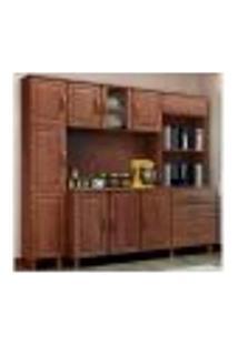 Cozinha Compacta 3 Peças Madeira Maciça Bronze Imbuia Fnt