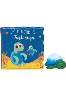 Kit Livrinho De Banho E Tartaruguinha Buba Azul