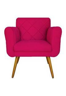 Poltrona Decorativa Isa Em Tressê Suede Pink - Ds Móveis