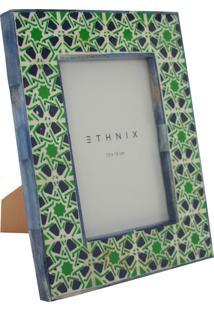 Porta Retrato Ethnix Debby 13X18 Azul/Verde