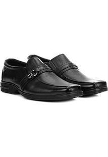 Sapato Social Couro Walkabout Cashel - Masculino-Preto