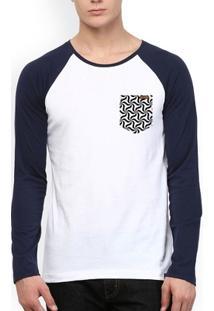 Camiseta Wevans Bolso Aplique Geometrico - Masculino