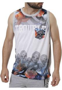 Camiseta Regata Masculina Federal Art Cinza
