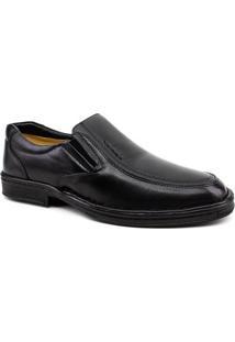 Sapato Social Couro Pipper 26505 Masculino - Masculino-Preto