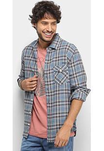 Camisa Colcci Xadrez Slim Manga Longa Masculina - Masculino-Marrom
