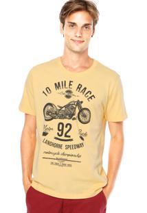 Camiseta Colcci Motocicleta Amarela