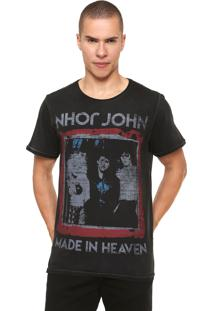 Camiseta John John Rock Band Preta