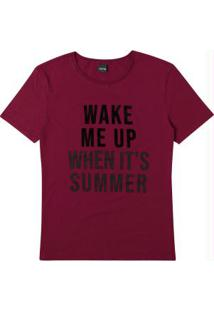 Blusa Bordô Ampla Wake Me Up