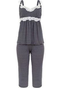 Pijama Amamentação Mari M Pescador Listras