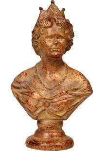 Escultura Decorativa De Resina Busto De Mulher Elisabeth