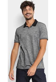 Camisa Polo Forum Masculina - Masculino-Preto+Cinza