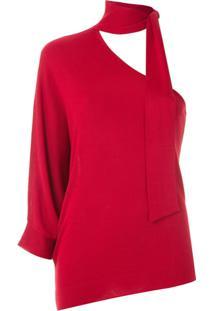 Bo.Bô Blusa De Tricô Com Amarração - Vermelho