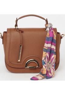Bolsa Com Encaixe & Bag Charm - Marrom - 20X24X12Cmloucos E Santos