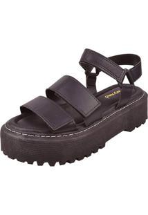 Sandália Plataforma Chyrrô Chunky Preta
