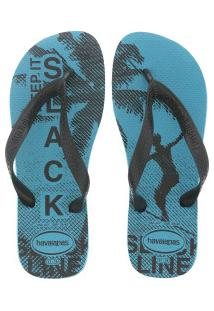 Chinelo Havaianas Top Athletic - Masculino - Azul Claro/Preto