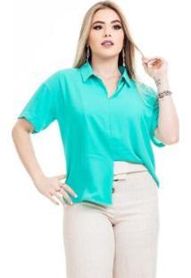 Blusa Clara Arruda Minimalista 20582 Feminina - Feminino-Verde