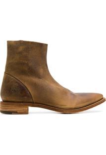 Premiata Flat Ankle Boots - Marrom