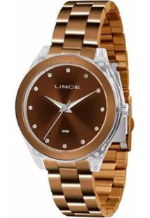 Relogio Feminino Lince Analogico Lrb4431P Chocolat - Unissex-Bronze