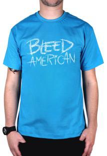 Camiseta Bleed American Logo Turquesa