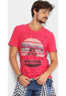 Camiseta Kohmar Paradise Masculina - Masculino-Pink