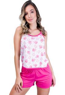 Pijama Mvb Modas Adulto Blusinha Alça Short Curto Rosa