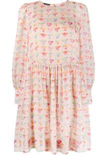 Emporio Armani Vestido Com Estampa Floral Aquarela - Rosa