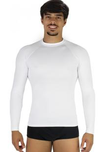 Camisa Mvb Modas Térmica Segunda Pele Proteção Uv 50 Branco