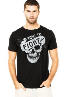Camiseta Pretorian Skull Preta
